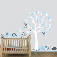 Jungle Animal Extra Animals & Tree Decal, Nursery Boys Room Animal Wall Mural