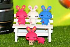New Very Cute Cartoon Bunny Pen/Flash Drive Memory Stick Storage Gift USB 2.0