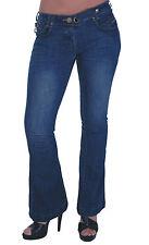 Para mujer Denim Pantalones Bootcut amplia Pantalones Acampanados Bell Hipsters Pantalones de Jeans