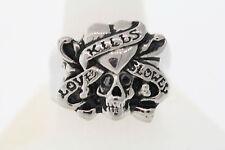 Ed Hardy Love Kills Slowly Stainless Skull Ring