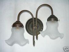 Applique lampada in ottone liberty casa arredo 2 luci