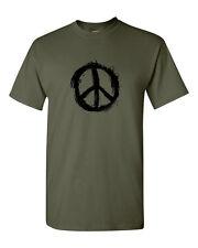 Peace T Shirt with arty CND Peace logo music festival tee