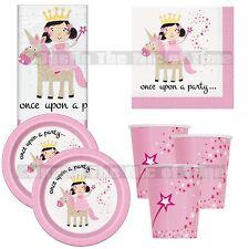 Magical Unicorn & Princess Birthday Girls Pink Party Supplies Tableware