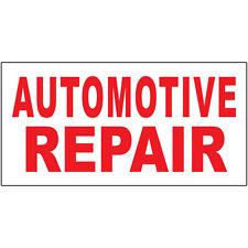 Automotive Repair Red Auto Car Repair Shop DECAL STICKER Retail Store Sign