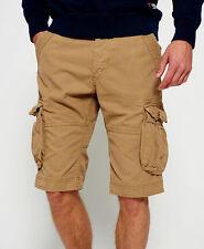 SUPERDRY Men's - CORE CARGO LITE - Military Cargo Shorts - NEW - Legion Beige