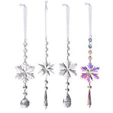 Rainbow Suncatcher Crystal Snowflake Ornament Christmas Hanging Decor Gifts