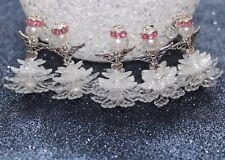 Ensemble de bricolage 5-10 Ange Fée ELFES pendants Flocon neige cadeau baptême