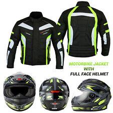 Motorbike Motorcycle Jacket Waterproof Breathable Biker Full Face Helmet Crush