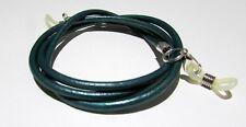 Green leather Eye / sun Glasses Necklace / Lanyard