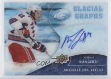 2009 Upper Deck Ice Glacial Graphs GG-DZ Michael Del Zotto New York Rangers Auto
