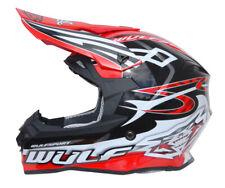Wulfsport Sceptre Adult ACU Gold BMX Quad Motocross MX Crash Enduro Helmet Red