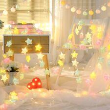 20 LED Luces de cuerda de Colores Estrella Lámparas Fiesta Boda Decoración Hogar