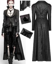 Manteau long traîne gothique punk lolita victorien cuir volants corset PunkRave
