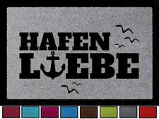 FUSSMATTE Türvorleger HAFENLIEBE Meer Flur Geschenk Schmutzmatte Nordsee Hamburg