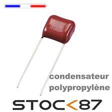 20 Pièces 100 V 0.1uF 100NF 10/% Radial Plomb Box Type de correction des condensateurs jaune