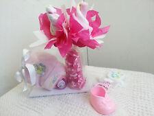 Cutest Lil Baby Face Diaper Rose Bottle Diaper Cake Baby Shower Gift Boy Girl