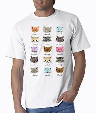 Cat Shirt, Cat Moods Shirt, Funny Cat Shirt, Small - 5X