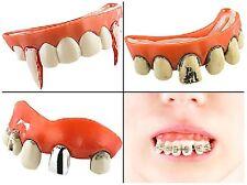 Falsche Künstliche Zähne Zahnprothese Gebiss Vampirzähne Zombiezähne Karneval