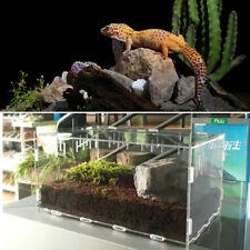 Reptile Cage Breeding Box Tarantula Insect Lizard Snake Amphibian Turtle Acrylic