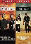 Bad Boys & Bad Boys 2 1 & 2 Will Smith Martin Lawrence  (DVD, 2009, 2-Discs) WS