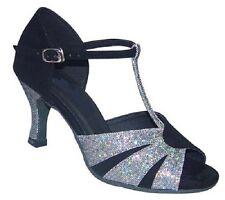 Ladies Latin Dance Shoes Salsa Ballroom Line UK 3 - 8