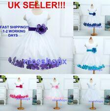 Girls Flower/Bridesmaid/Party/Princess/Wedding/Christening/COMMUNION Dress(48)