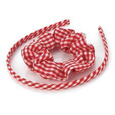 NUOVA linea donna 8mm due pezzi elastico e Gingham cerchietti accessori per capelli