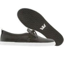 $76 Supra Belay NS black tan pigskin Premium Skate Fashion Sneakers 6 7 11