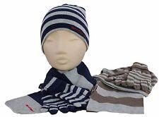 Trendy cooles Set Jungs Mütze Schal Finger-Handschuhe Strickmütze 388023 Kinder