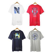 NWT Nautica Men's Rear Graphic Tee 100% Cotton crew neck short sleeve T-Shirt