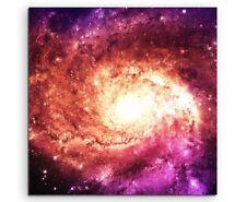 Illustration –  Magenta Galaxie auf Leinwand