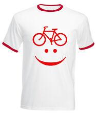 T-SHIRT UOMO BICICLETTA maglietta ciclista CON SORRISO BICI CICLISMO SPIRITOSA!