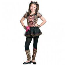 GIRLS PRECIOUS LEOPARD ANIMAL CAT CHEETAH FANCY DRESS COSTUME