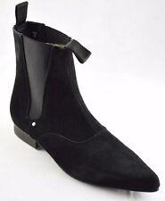Steel Ground Black Suede Chelsea Boots Ankle Boot Winklepicker Sb003Z4