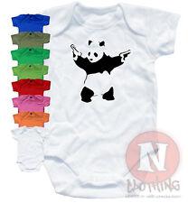 Naughtees Clothing BODY Banksy Pandamonium Algodón Estampado Panda Babysuit