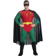 Adulto Uomo Costume Robin con licenza DC Supereroe Teen Titans RUBINI