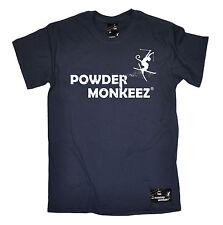 Powder Monkeez T-SHIRT Apres Skiing Tee Ski Clothing Snow Funny Gift fathers day