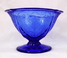 Blue Royal Lace Sherbet Hazel Atlas Depression Glass Vintage Tall Champagne