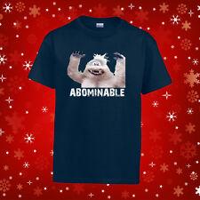 Youth Abominable Snowman Christmas T Shirt Holiday T-Shirt Rudolph Christmas