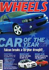 Wheels Dec 02 RX8 Z4 BA Mk2 Falcon B4 auto Boxster S WRX Sti Toureg Alfa 147 GTA