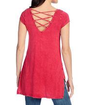 NEW Indigo Thread Co Criss Cross Back Top XS-2X Black Olive Red or Purple