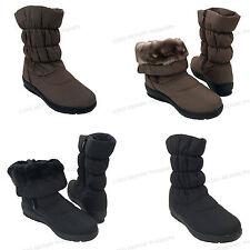 "New Women's Winter Boots 10""  Fur Lined Warm Side Zipper Snow Shoes, Sizes:5-11"