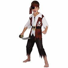 Child CUTTHROAT PIRATE Caribbean Pirate Boys Fancy Dress Book Week Age 3-13 Kids