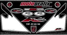Yamaha YZF R1 02 03 04 Front Fairing Number Board Motografix 3D Gel Protector