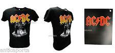 T-Shirt Originale AC/DC Nera Hard Rock Hells Bells Campana Novità 2016 Nera