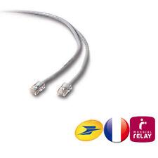 CABLE CORDON RJ45 RESEAU INTERNET 0,5m 1m 2m 3m 5m 7m 10m 12m 15m 17m 20m 30m