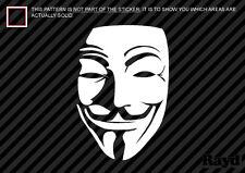 (2x) V for Vendetta Mask Sticker Die Cut Decal Self Adhesive Vinyl