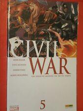 CIVIL WAR- N°5- PANINI- NUOVO MAI APERTO+ ho disponibili altri numeri 1/7 molti