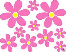 20 x Flowers Daisy Wall Car Vinyl Stickers Any Colour Petal/Any Colour centre
