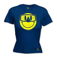 Smiley gafas de diseño para mujer aguas Camiseta Camiseta Regalo de Cumpleaños Buceo